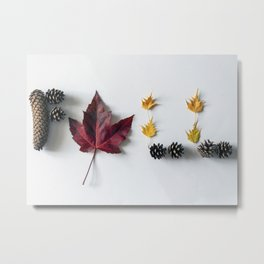 Fall in Words Metal Print