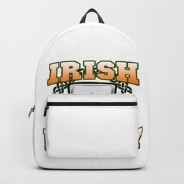 IRISH WHISKEY Irland St Patricks Day Scotch Glas Backpack