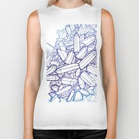 crystals Biker Tanks featuring Crystals by fossilized