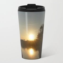 Sunset on the lake Metal Travel Mug
