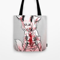 halo Tote Bags featuring Halo by Heartos