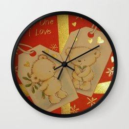 LOVE AT CHRISTMAS Wall Clock