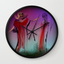 Playing in Muddy Water Wall Clock