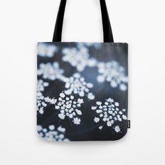 flower - blue lace Tote Bag