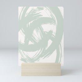 Abstract Brushstrokes Mint Mini Art Print