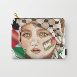 Free Palestine in watercolor Carry-All Pouch