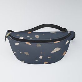 Midnight Navy Terrazzo #1 #decor #art #society6 Fanny Pack