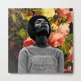 Head full of flowers Metal Print