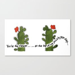 Prickly Pear Days Canvas Print