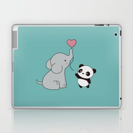 Kawaii Cute Elephant and Panda Laptop & iPad Skin