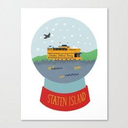 Staten Island Ferry, Snow globe, souvenir, new york city, nyc Canvas Print
