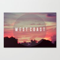 west coast Canvas Prints featuring West Coast by marcbueno