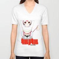 kill la kill V-neck T-shirts featuring Kill la kill (Nonon Jakuzure) by Tehzuh
