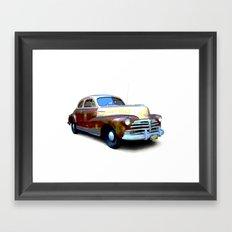Vintage Police Car Framed Art Print