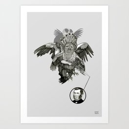 The Black-Tailed Werewolf Hunter Art Print