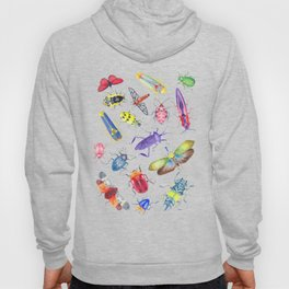 Colorful Bugs and Beetles Collection Hoody
