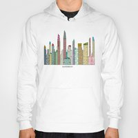 san diego Hoodies featuring San Diego skyline  by bri.buckley