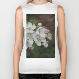Apple blossom white and pink Biker Tank