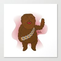 chewbacca Canvas Prints featuring chewbacca by Lalu