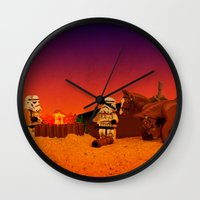 camping Wall Clocks featuring Camping by plopezjr