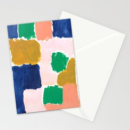 Shel - abstract painting boho modern bright minimal color palette gender neutral dorm college decor Stationery Cards