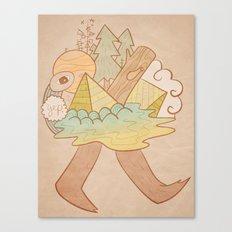 Pyramid Walker Canvas Print
