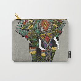 floral elephant stone Carry-All Pouch