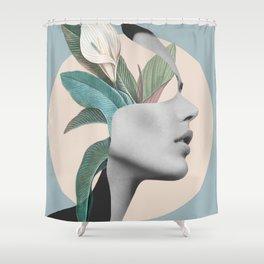 Floral Portrait /collage Shower Curtain