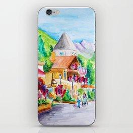 Vail Village Colorado Watercolor iPhone Skin