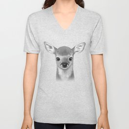 Little fawn Unisex V-Neck