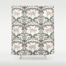 pig damask Shower Curtain