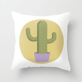 Cactus Sun Throw Pillow