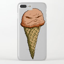 Chocolate Not-Nice Cream Clear iPhone Case
