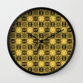 Primrose Yellow Geometric Floral Wall Clock