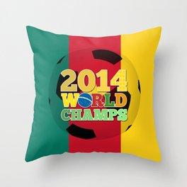 2014 World Champs Ball - Cameroon Throw Pillow