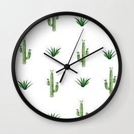 """TWIN CACTUS"" BY ROBERT DALLAS Wall Clock"