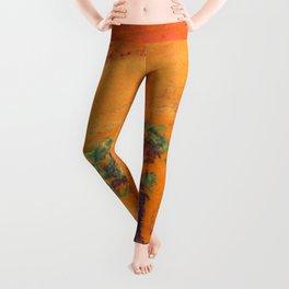 Orange Bonsai Leggings