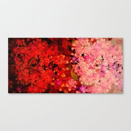Two Different Worlds -- Floral Pattern Canvas Print