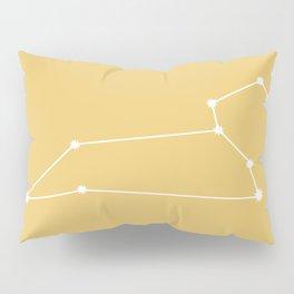 Leo Zodiac Constellation - Golden Yellow Pillow Sham