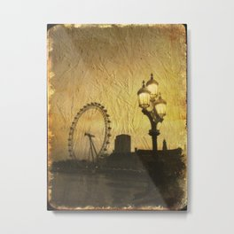 Sepia London Metal Print