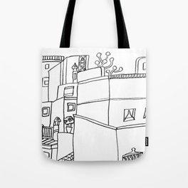 Street Of Malaga - Drawing Tote Bag
