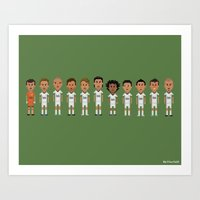 real madrid Art Prints featuring Real Madrid 2012/2013 Line by 8bit Football