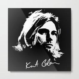 Kurt-Rock-Grunge-Music Metal Print