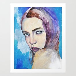 Profile in Purple Acrylic Art Print