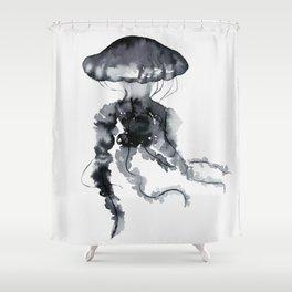 Jellyfish - Ink Shower Curtain