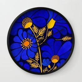 Wildflower Garden Wall Clock
