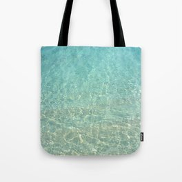 Colors of the Sea Water - Clear Turquoise Tote Bag