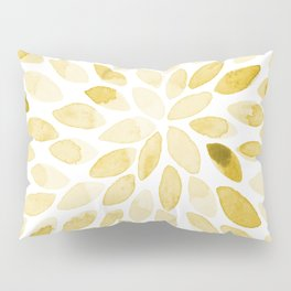 Watercolor brush strokes - yellow Pillow Sham