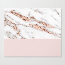 Blushed rose gold vein Canvas Print