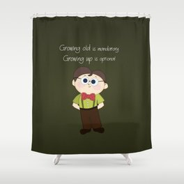 Growing up and growing old a birthday nerdy cute kid illustration Shower Curtain
